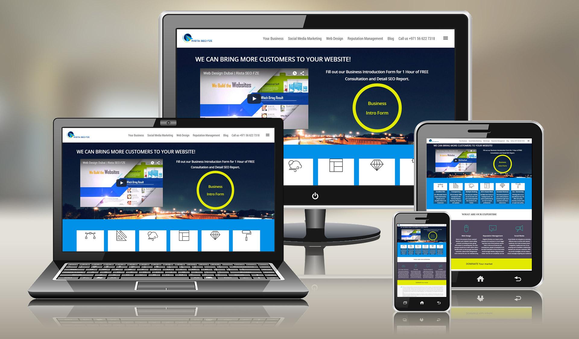 طراحی سایت چندزبانه تجاری